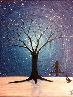 Have the wish I wish tonight No2 10 x 8 acrylic by MichaelHProsper, $35.00