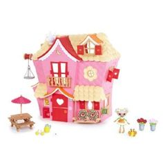 MGA Mini Lalaloopsy Sew Sweet House Playhouse with Exclusive Character - any mini Lalaloopsy set would make her happy. She has a few mini dolls, and a few mini Strawberry shortcake dolls and some polly pockets she plays with them all together
