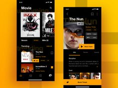 Movie App designed by Sulton hand for Pixelz Studio. Connect with them on Dribbble; the global community for designers and creative professionals. Web Design, Website Design Layout, App Ui Design, Graphic Design, Film App, Netflix App, Netflix Streaming, Desing Inspiration, Android Ui