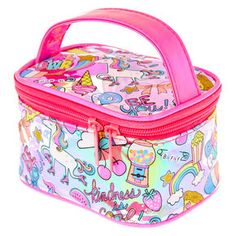 Unicorn Fun Fair Cosmetics Bag with Handle,