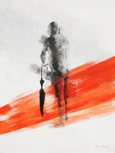 """Hesitant Henry"" painting – Anelle Steyn"