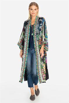 Johnny Was Collection Eliza Reversible Kimono High Fashion Outfits, Korean Fashion Casual, Boho Outfits, Fashion Ideas, Long Kimono, Kimono Top, Kimono Abaya, Cardigans For Women, Coats For Women