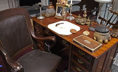 The Teddy Roosevelt Collection: Roosevelt's original desk and chair from Sagamore Hill