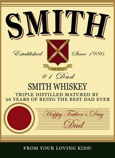 Personalize a label for dad for Father's Day!