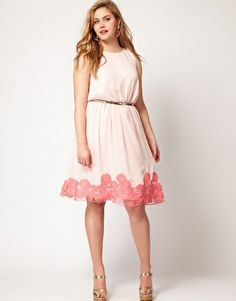 ASOS CURVE Premium Dress with Contrast Cutwork Hem