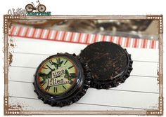 bottle caps for scrap embellishments or mixed media projects.