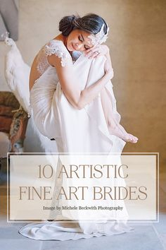 Fine Art Bridal Portraits Inspired by Paintings | Photography by MICHELE BECKWITH, Wedding Dress by CLAIRE PETTIBONE