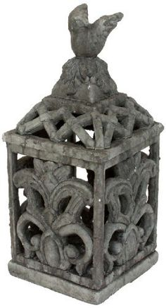 Nach Lantern, Gargoyle by NACH. Save 5 Off!. $43.79. No resin material used. 100-percent concerete construction for a geniun rustic look.. Safe for outdoor use. Concrete Grey Lantern with Gargoyle Face on Side. Brign a little theme to your garden with this ghothic grey concrete lantern with Gargoyle face on stand, with a perfect perch to overlook your garden