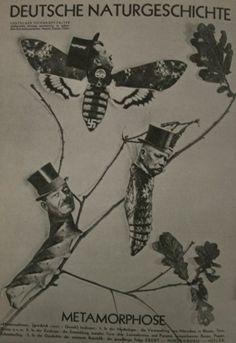 Metamorfose - Fotomontagem de JOHN HEARTFIELD. Pintor Alemão que critica o nacionalismo irracional e anti-britânico, predominante na Alemanha durante a Primeira Guerra Mundial.