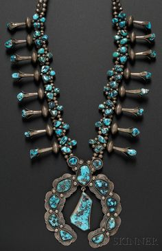 Navajo Turquoise Squash Blossom Necklace,  I have one just like this.  Love it!
