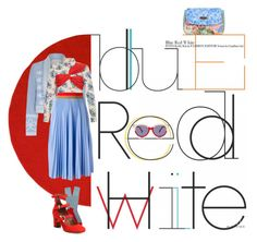 """Blue, Red, & White"" by puellasum on Polyvore featuring Asplund, Temperley London, MSGM, PiP Studio, Marni, Tabitha Simmons and Preen"