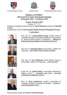 Simpozion - Întâlnire cu ISTORIA: 160 de ani de la Unirea Principatelor Române