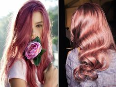 this rose goldish hair color... its almost like a strawberry'ish blonde? maybe slowely go this color for summer?! LOVE