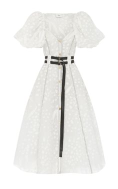 Shop Salt Lake Belted Silk and Cotton-Blend Midi Dress. Aje was found in 2008 by best friend desgner-duo Adrian Norris and Edwina Forest. Peplum Midi Dress, Floral Maxi Dress, Silk Dress, Satin Gown, Eyelet Dress, Midi Dresses, Full Skirts, A Line Skirts, Little White Dresses