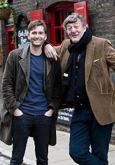 David Tennant & Stephen Fry  be still my heart. two of my favorites.