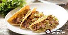 Tacos de picadillo verde al estilo de Sonia Ortiz por Cocina al natural