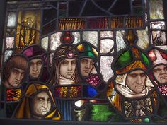 Early Panel by Harry Clarke Stained Glass Art, Stained Glass Windows, Fused Glass, Harry Clarke, Tiffany, Christ The King, Churches Of Christ, Irish Art, Arts And Crafts Movement