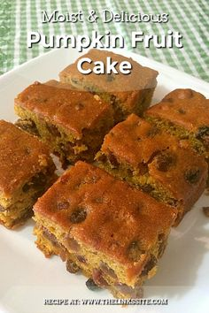 Packed with plump, juicy fruit and sweetened with pumpkin and apricot nectar this Pumpkin Fruit Cake is a luscious snack cake that is almost irresistible! Best Fruit Cake Recipe, Cake Recipes, Dessert Recipes, Healthy Fruit Cake, Dinner Recipes, Healthy Snacks, Healthy Recipes, Boiled Fruit Cake, Juicy Fruit