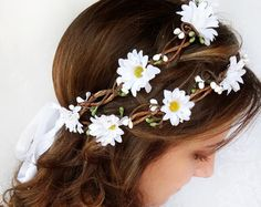 ivory flower crown bridal headpiece flower crown by thehoneycomb