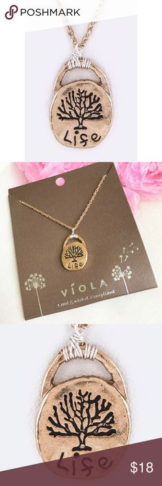 "Beautiful LIFE pendant necklace ENGRAVE LIFE PENDNAT NECKLACE    ENGRAVE LIFE PENDNAT NECKLACE Necklace - 16"" + Extension Lead & Nickel Compliant Brand new beautifully designed gold plated     BUNDLE & SAVE 15% ✨TOP RATED SELLER✨ SAME DAY OR NEXT DAY SHIPPING! ❤REASONABLE OFFERS WELCOME❤ ❌NO TRADES OR PAYPAL❌ viola Jewelry Necklaces"