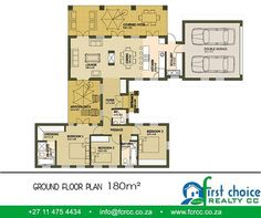 First Choice Realty CC have a variety of designs and sizes of home to choose from. Our Executive House range starts with floor plans of and can be. 3 Bedroom Plan, First Choice, Double Garage, Affordable Housing, Timeline Photos, Modern House Design, Ground Floor, Ideal Home, House Plans