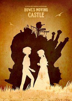 Vintage Hayao Miyazaki Minimalist Poster Set My by TopPoster
