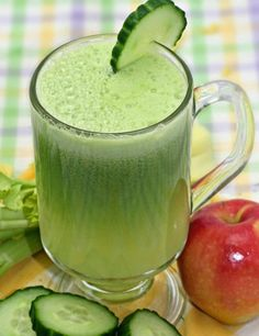 Cucumber Apple Ginger Juice For Strong Hair and Smooth Skin