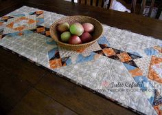 Like the layout, great tutorial. Probably darker colours although I love this just as it is. Fall table runner tutorial - The Crafty Quilter Table Runner And Placemats, Quilted Table Runners, Fall Patterns, Quilt Patterns Free, Table Runner Tutorial, Modern Quilting Designs, Quilt Designs, Fall Quilts, Quilting Projects
