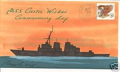 Nice hand-painted cachet USS CURTIS WILBUR DDG Naval Cover 1994 ROGAK FDC Cachet