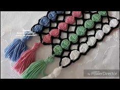 Crochet Stitches, Crochet Patterns, Tassel Necklace, Crochet Necklace, Dorset Buttons, Hooded Scarf, Crochet Videos, Crochet Fashion, Headbands