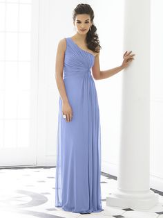 Shop After Six Bridesmaid Dress - 6651 in Lux Chiffon at Weddington Way. Find the perfect made-to-order bridesmaid dresses for your bridal party in your favorite color, style and fabric at Weddington Way. One Shoulder Bridesmaid Dresses, Grey Bridesmaids, Wedding Bridesmaid Dresses, Prom Dresses, Shoulder Dress, Dessy Bridesmaid, Dresses 2014, Dress Prom, Dress Long