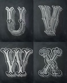 Chalk Alphabet on Typography Served