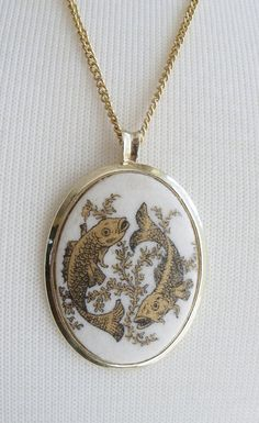 Vintage Koi Fish Pendant Necklace by bedazzledantiquities on Etsy, $12.00