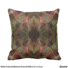 Multi Colored Abstract Fractal Pillow