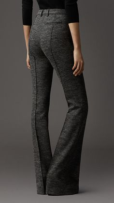 melange wool trouser | Burberry