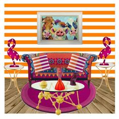 """""""A Fun Bright Home Set"""" by freshstart60 ❤ liked on Polyvore featuring interior, interiors, interior design, home, home decor, interior decorating, Talking Tables, Amara, Dot & Bo and homeset"""