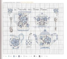 Cross Stitch Bookmarks, Counted Cross Stitch Patterns, Cross Stitch Designs, Hardanger Embroidery, Cross Stitch Embroidery, Hand Embroidery, Cross Stitch Kitchen, Blue Cross, Le Point