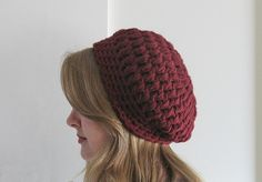 Womans Slouchy Hat Free Shipping Teen Girls by DeesCozyCreations, $37.99