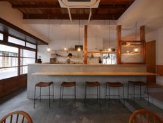 Pizzeria Design, Cafe Shop Design, Ramen Bar, Japanese Store, Japanese Interior Design, Small Cafe, Cafe Interior, Restaurant Bar, Interior Architecture
