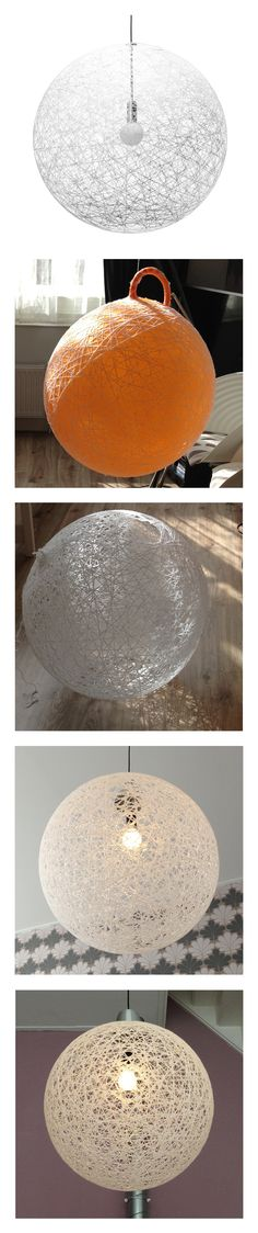 Love this lamp. Simply make your own one with a skippy ball, glue and wool.
