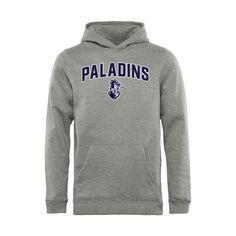 Furman Paladins Youth Proud Mascot Pullover Hoodie - Ash