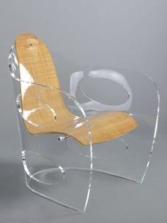 Poltrona moderna / in Plexiglas® / in cuoio / in velluto VH14_004 | ABBRACCIO hodara art designer