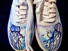 Art & Sole - shoes designed and drawn/watercolored/or painted on for you. This girl is AMAZING!  http://www.facebook.com/pages/ArtSole/114177518655147