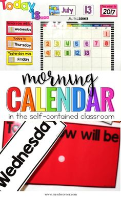 A morning routine that fits the needs of a self contained special education classroom. Morning routines are a set of procedures that students complete each day as they enter the classroom.The Morning Calendar Routine that I have set up is not only differentiated to meet the needs of all of my students, but it's functional and it's routine. Nothing about our morning routine ever changes. It's how we start every single morning... and I only planned for it one time. Blog post at Mrs. D's Corner
