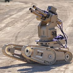 From iRobot, the company that brought you Roomba, and a munitions company called Metal Storm, comes FireStorm, one of a series of next generation ground-based combat robots that will make Johnny 5 a thing of reality. Futuristic Technology, Cool Technology, Technology Gadgets, Tech Gadgets, Medical Technology, Energy Technology, Military Robot, Military Weapons, Military Gear