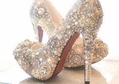 Pearl high heels closed toe wedding shoes luxury bridal shoes custom shoes platform shoes prom shoes women party shoes on Etsy, $178.00