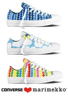Marimekko Converse shoes... I'll take one of each, please!