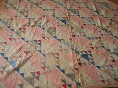 Antique Quilt 1910 Era Hand Pieced Quilted Teeny Stitches in Wild GOOSE Chase | eBay, senecal