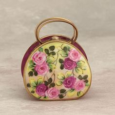 Limoges purse with roses
