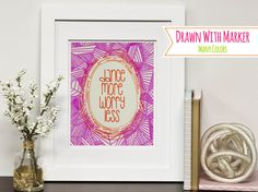 Sharpie Gallery Art With Frame Optional by SimplyBeautifulByLC